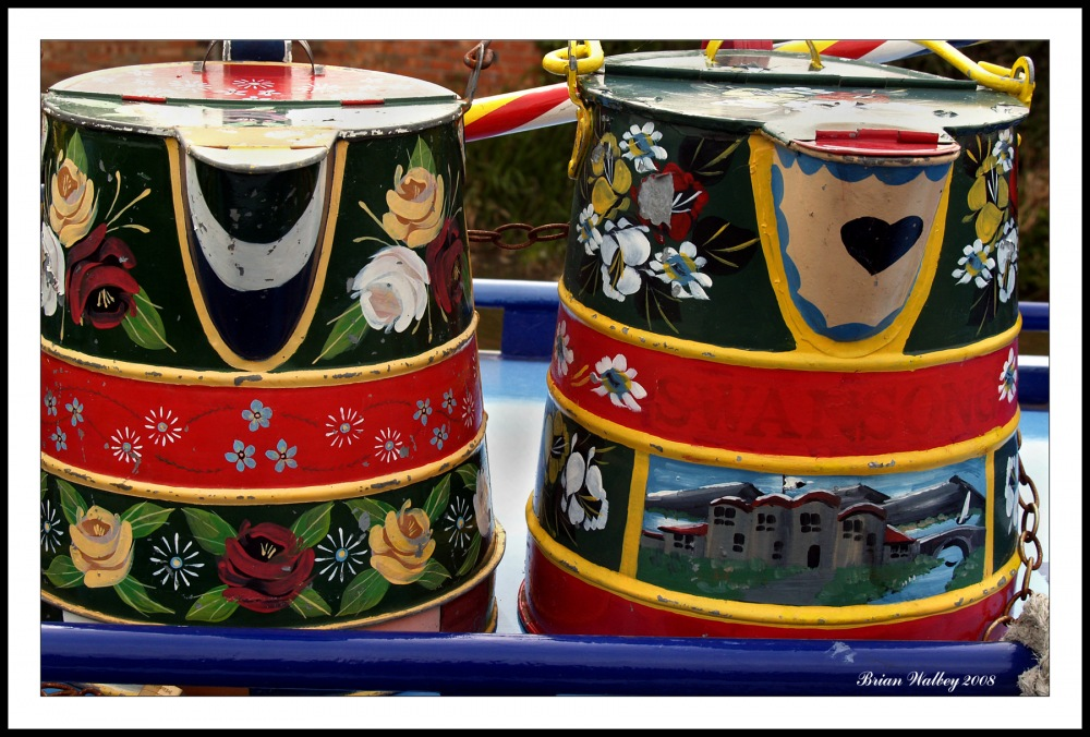 photoblog image Canal Boat Buckets