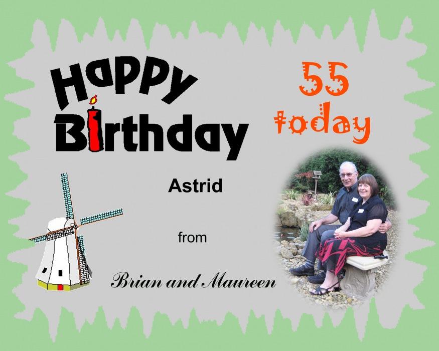 photoblog image Happy Birthday Astrid