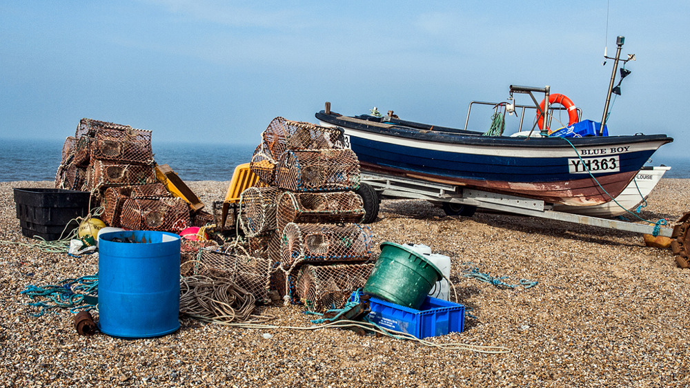 photoblog image Salthouse Beach Fishing Fleet 3/7